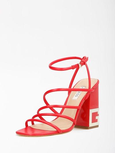 Sandale cu baretă GUESS pe roșu sânge, Vizualizare produs