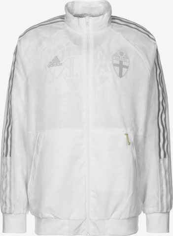 Vestes d'entraînement 'Schweden Uniforia Anthem EM 2021' ADIDAS PERFORMANCE en blanc