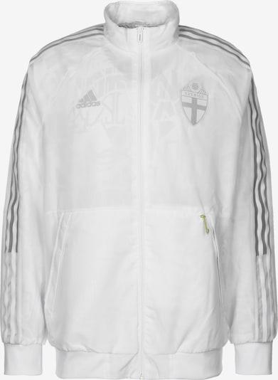 ADIDAS PERFORMANCE Trainingsjacke 'Schweden Uniforia Anthem EM 2021' in hellgrau / dunkelgrau / weiß, Produktansicht