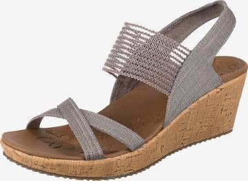 SKECHERS Sandale in Grau