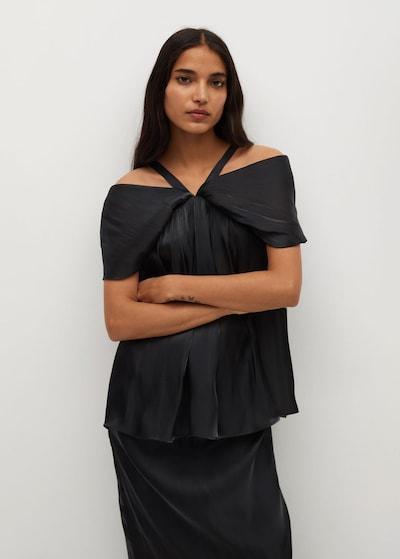 MANGO Bluse in schwarz, Modelansicht