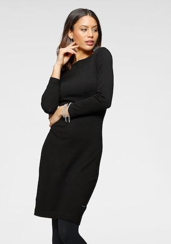 LAURA SCOTT Knitted dress in Black