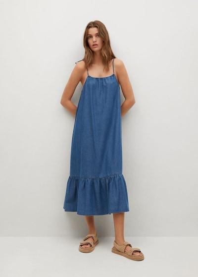 MANGO Kleid 'Gaial-H' in blue denim, Modelansicht