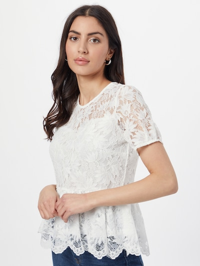 ONLY Blusa 'FIGEN' en blanco, Vista del modelo