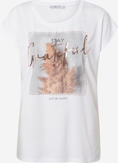 Hailys T-Shirt 'Lea' in mischfarben / weiß, Produktansicht