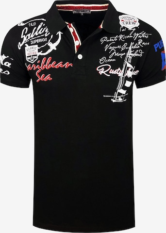 Rusty Neal Poloshirt in Schwarz