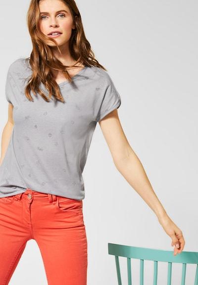 CECIL T-Shirt mit Symbolmuster in grau: Frontalansicht
