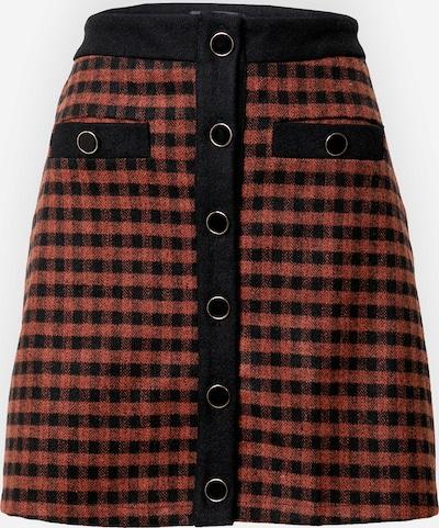 Fashion Union Rok 'JOHNNY' in de kleur Bruin / Zwart, Productweergave