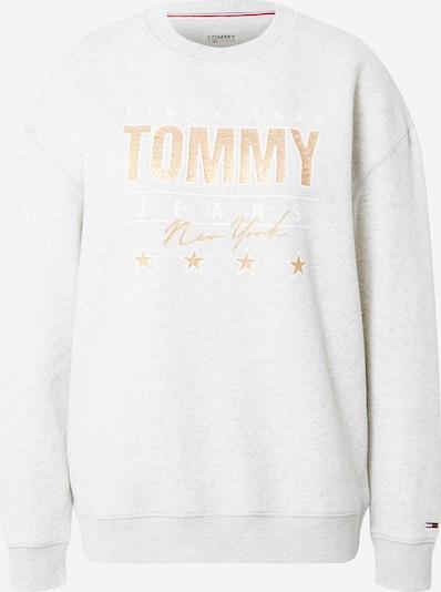 Tommy Jeans Sweatshirt in de kleur Sand / Grijs / Wit, Productweergave