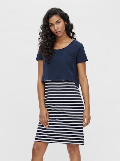 MAMALICIOUS Kleid in navy / weiß, Modelansicht