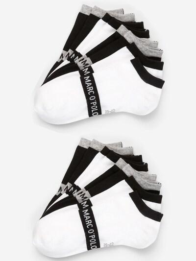 Marc O'Polo Enkelsokken ' 8er-Pack Low Cuts Black & White ' in de kleur Grijs / Zwart / Wit, Productweergave