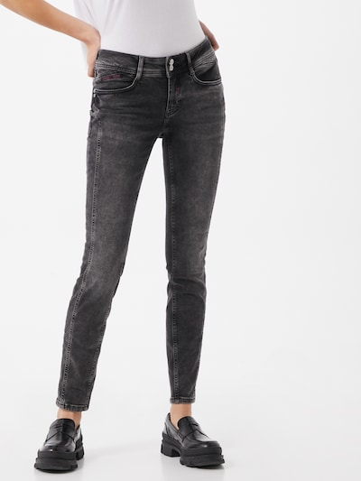 STREET ONE Jeans in grey denim, Modelansicht