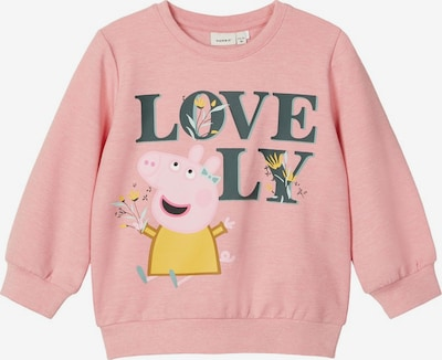 NAME IT Sweatshirt 'Peppa Pig' in gold / basaltgrau / koralle / rosa, Produktansicht