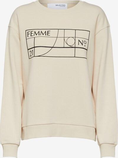 SELECTED FEMME Sweatshirt 'Cami' in sand / schwarz, Produktansicht
