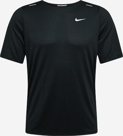 NIKE Koszulka funkcyjna 'Rise 365 Wild Run' w kolorze szary / czarny / białym, Podgląd produktu