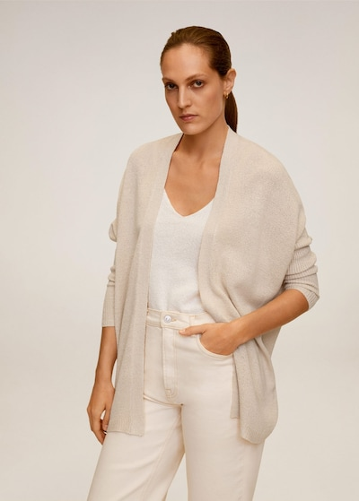 MANGO Strickjacke 'Estoril' in sand, Modelansicht