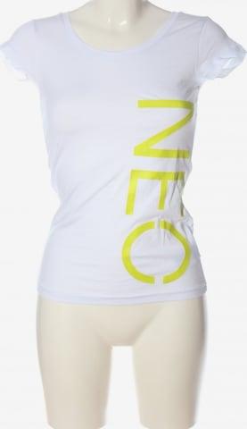 ADIDAS NEO Print-Shirt in XXS in Weiß