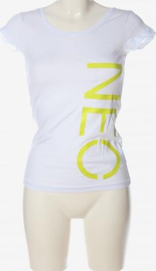 ADIDAS NEO Print-Shirt in XXS in pastellgelb / weiß, Produktansicht