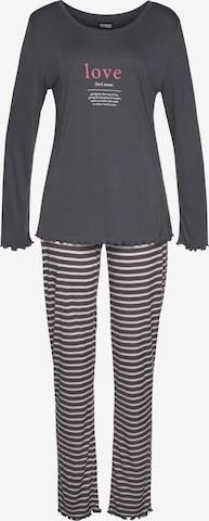 VIVANCE Pyjama in Grau