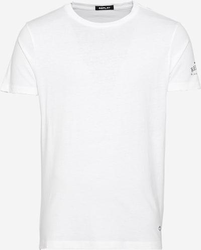REPLAY Shirt in petrol / weiß, Produktansicht