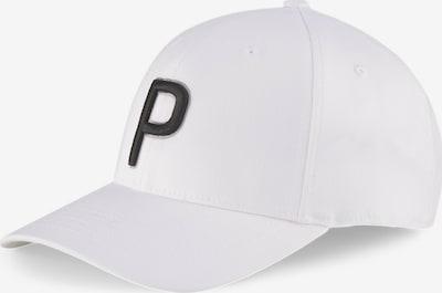 PUMA Casquette de sport 'P Adjustable' en noir / blanc, Vue avec produit