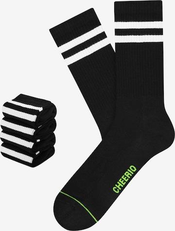 CHEERIO* Socks 'TENNIS TYPE 4P' in Black