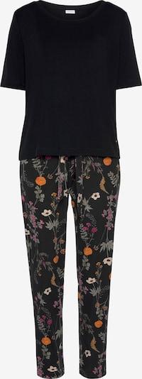 LASCANA Pyjama in mischfarben / schwarz, Produktansicht