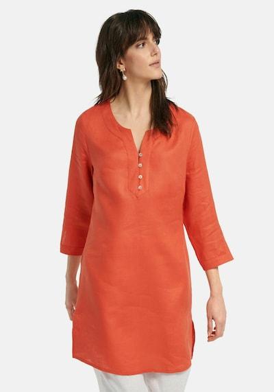 Peter Hahn Tunika Tunika aus 100% Leinen in orange / rot / orangerot, Modelansicht