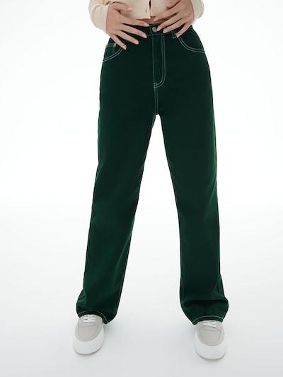 LENI KLUM x ABOUT YOU Jeans 'Tyra' in grün, Modelansicht