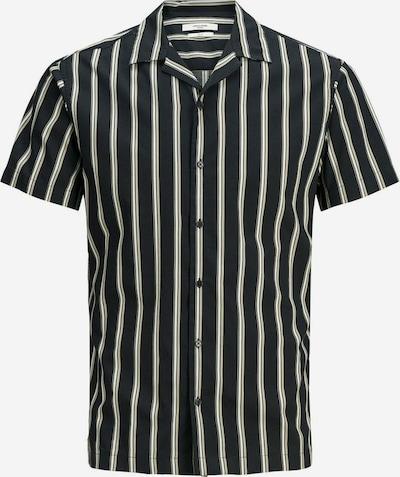 JACK & JONES Streifen Kurzarmhemd in schwarz, Produktansicht