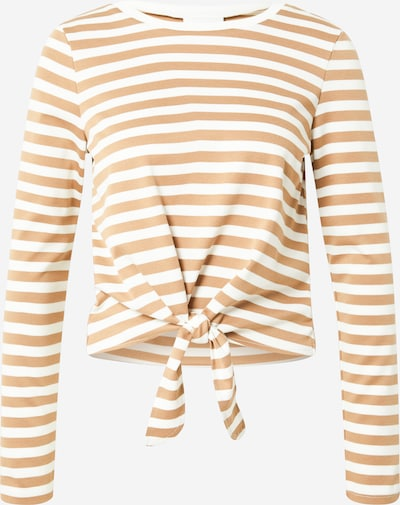 VILA Shirt 'TINNY' in dunkelbeige / weiß, Produktansicht
