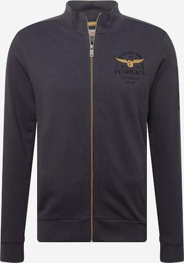 Petrol Industries Sweatvest in de kleur Duifblauw / Goud / Zwart, Productweergave