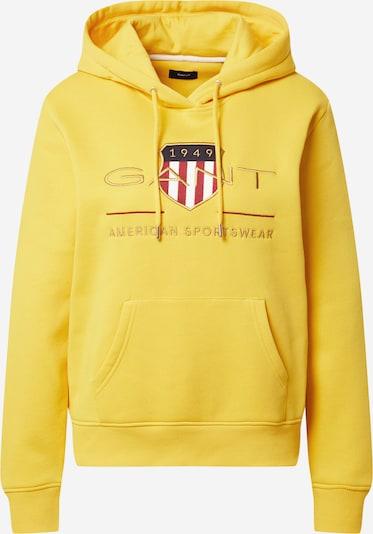 GANT Sweatshirt 'ARCHIVE' in nachtblau / gelb / goldgelb / weiß, Produktansicht