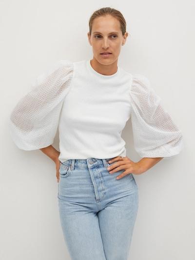 MANGO Bluza 'VELASCO' u bijela melange, Prikaz modela