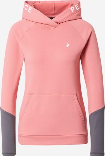 PEAK PERFORMANCE Sportsweatshirt 'Rider' in grau / fuchsia, Produktansicht