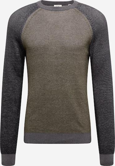 EDC BY ESPRIT Pullover in grau / dunkelgrau / khaki, Produktansicht