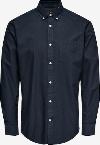 Camicia 'Neil' di Only & Sons in blu