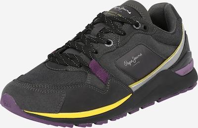 Pepe Jeans Baskets basses 'X20 RUNNER' en jaune / anthracite / gris clair / violet, Vue avec produit
