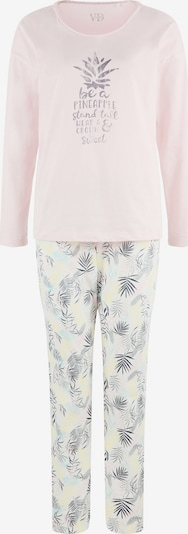 VIVANCE Piżama w kolorze aqua / pastelowo-żółty / fioletowo-niebieski / różowy pudrowy / białym, Podgląd produktu