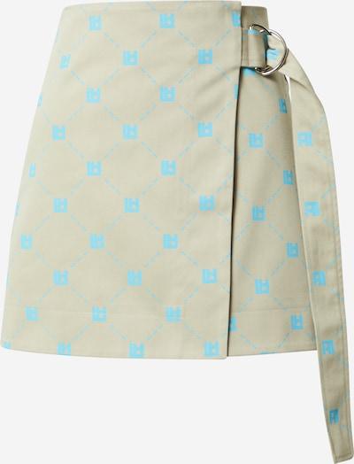 LOCAL HEROES Skirt in Dark beige / Neon blue, Item view