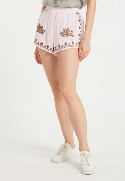 usha FESTIVAL Kalhoty - hnědá / světle růžová, Model/ka