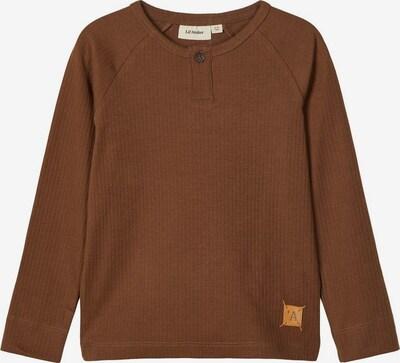 NAME IT Langärmeliges geripptes Slim Fit T-Shirt in braun, Produktansicht
