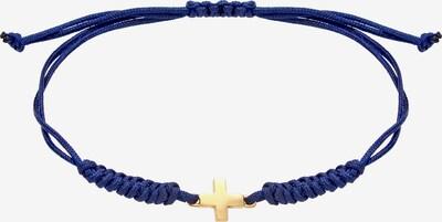 ELLI Armband 'Kreuz' in blau / gold, Produktansicht