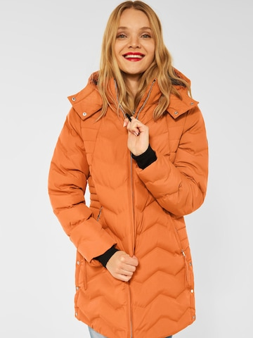 STREET ONE Winter Coat in Orange