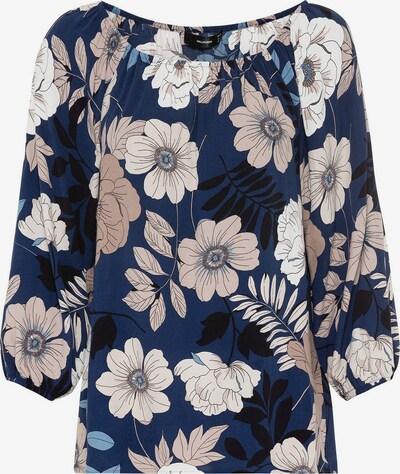 HALLHUBER Bluse in beige / dunkelblau / schwarz / weiß, Produktansicht