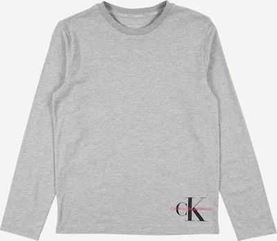 Calvin Klein Underwear Majica | siva / svetlo rdeča / črna barva, Prikaz izdelka