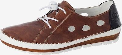 RIEKER Chaussure à lacets en marron / noir / blanc, Vue avec produit