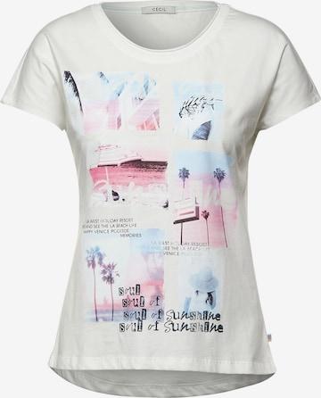 CECIL T-Shirt in Weiß