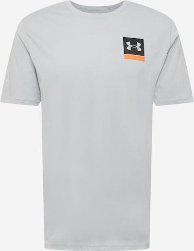 UNDER ARMOUR T-Shirt in hellgrau / orange / schwarz, Produktansicht