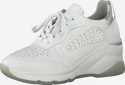 Tamaris Pure Relax Baskets basses en argent / blanc, Vue avec produit